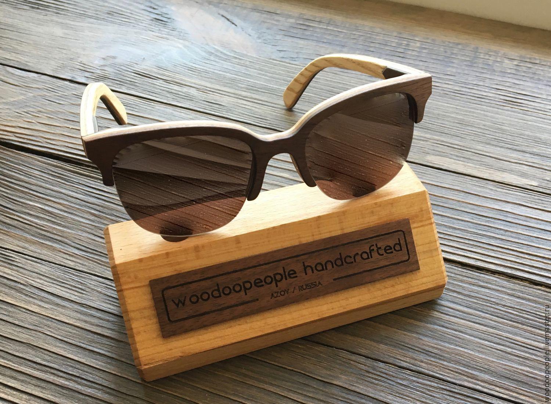 Очки ручной работы. Ярмарка Мастеров - ручная работа. Купить Деревянные очки модель New York. Handmade. 8 марта