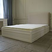 Для дома и интерьера handmade. Livemaster - original item bed with padded headboard and drawers. Handmade.