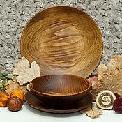 Посуда handmade. Livemaster - original item A set of Dining Plates from Siberian Fir(3#32. Handmade.