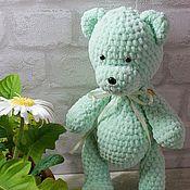 Куклы и игрушки ручной работы. Ярмарка Мастеров - ручная работа подарок вязаный мишка малышу. Handmade.