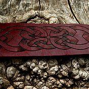 """Украшения ручной работы. Ярмарка Мастеров - ручная работа Браслет кожаный  """"На любовь и гармонию"""" из чепрака.. Handmade."""