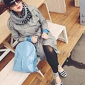 Сумки и аксессуары ручной работы. Ярмарка Мастеров - ручная работа Стильный рюкзак из голубого лаке. Handmade.
