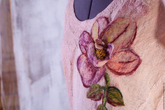 Большие размеры ручной работы. Ярмарка Мастеров - ручная работа. Купить Роза платье из мериносовой шерсти. Handmade. Платье