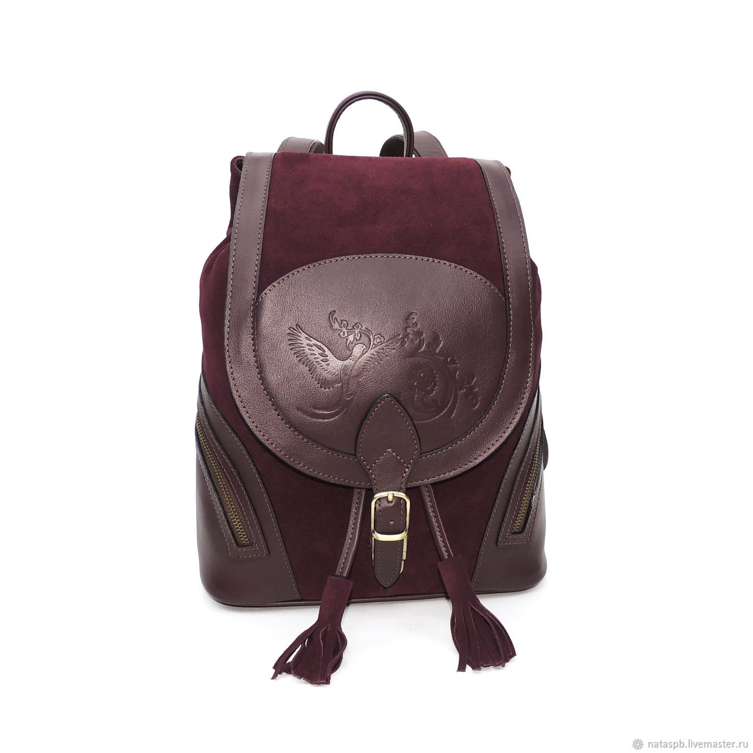 Backpack women's leather Bordeaux Cashmere Mod R50-482, Backpacks, St. Petersburg,  Фото №1