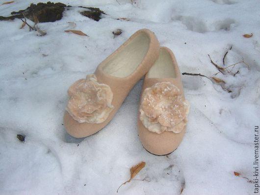 Обувь ручной работы. Ярмарка Мастеров - ручная работа. Купить Валяные тапочки женские. Handmade. Валяные тапочки, тапки женские