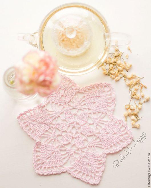 Текстиль, ковры ручной работы. Ярмарка Мастеров - ручная работа. Купить Салфетка для сервировки. Handmade. Бледно-розовый, салфетка
