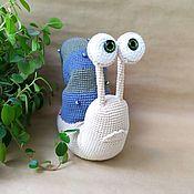 Куклы и игрушки handmade. Livemaster - original item Soft toys: Knitted toy Snail.. Handmade.