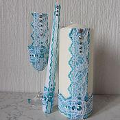 Свадебный салон ручной работы. Ярмарка Мастеров - ручная работа Свадебный набор, свечи для семейного очага и бокалы. Handmade.