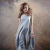 Одежда handmade. Livemaster - original item Felt dress Running on the waves. Handmade.