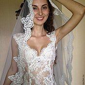 Одежда ручной работы. Ярмарка Мастеров - ручная работа Полупрозрачное свадебное платье из кружева. Handmade.