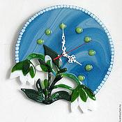 """Для дома и интерьера ручной работы. Ярмарка Мастеров - ручная работа Часы """"Подснежник"""". Handmade."""