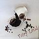 """Интерьерные композиции ручной работы. """"Кофе по-английски"""" парящая чашка, топиарий. Fairy Land (Fairy-Land-Lusy). Ярмарка Мастеров."""