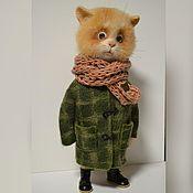 Куклы и игрушки ручной работы. Ярмарка Мастеров - ручная работа рыжий кот в пальто. Handmade.