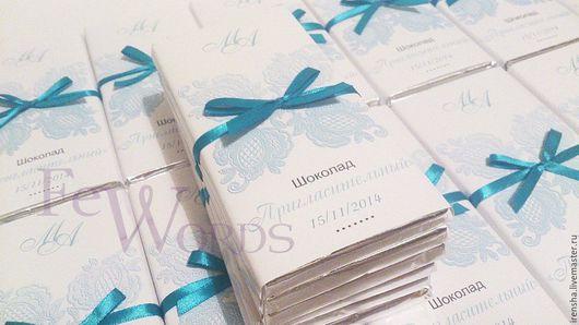 Свадебные открытки ручной работы. Ярмарка Мастеров - ручная работа. Купить Шоколад   - приглашение. Handmade. Шоколад, шоколадка