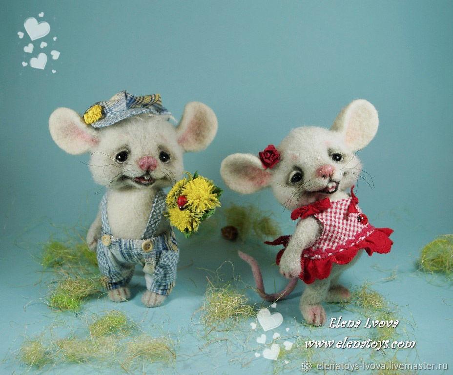Маленькие мышки Пеппи и Пауль, Игрушки, Санкт-Петербург, Фото №1