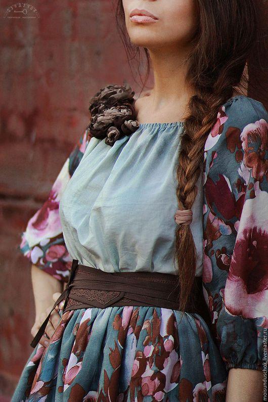"""Платья ручной работы. Ярмарка Мастеров - ручная работа. Купить Платье"""" Цвела черешня"""". Handmade. Платье, женственное платье, вискоза"""