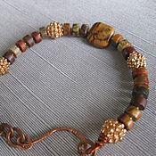Bead bracelet handmade. Livemaster - original item Bracelet genuine Jasper. Boho style. Handmade.