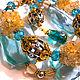 """Браслеты ручной работы. Ярмарка Мастеров - ручная работа. Купить Браслет """" Великолепный век"""". Handmade. Браслет, голубой, небо"""