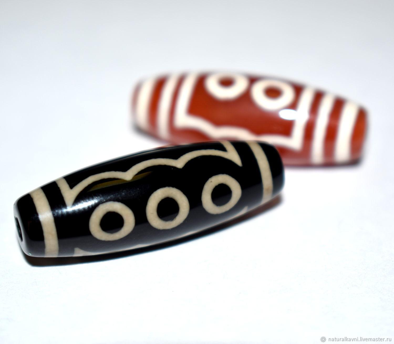 Tibetan Bead Dzi five eye, Beads1, Moscow,  Фото №1