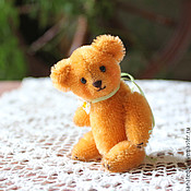 Куклы и игрушки ручной работы. Ярмарка Мастеров - ручная работа Авторский миниатюрный мишка Персик. Handmade.