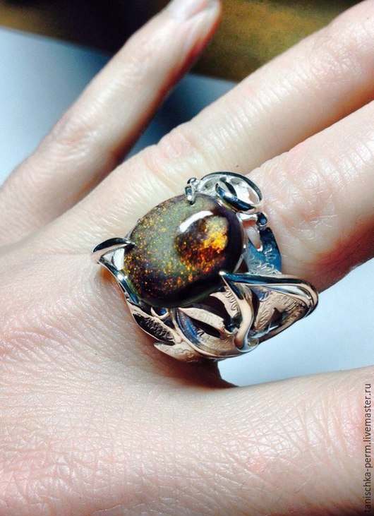 Кольца ручной работы. Ярмарка Мастеров - ручная работа. Купить кольцо с опалом. Handmade. Серебряный, серебро