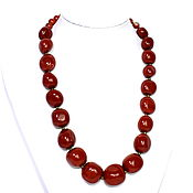 Работы для детей, handmade. Livemaster - original item Large beads natural red Jasper. Handmade.
