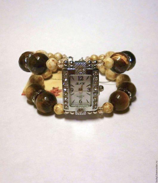 """Часы ручной работы. Ярмарка Мастеров - ручная работа. Купить Часы-браслет """"Тигровый глаз"""" (часы женские, наручные часы). Handmade."""