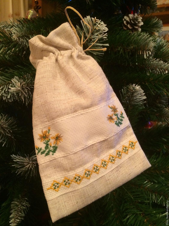Вышивка крестом мешочек для трав
