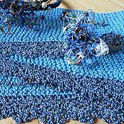 """Аксессуары ручной работы. Ярмарка Мастеров - ручная работа Вязаный бактус, шарф, косынка """"Синева"""". Handmade."""