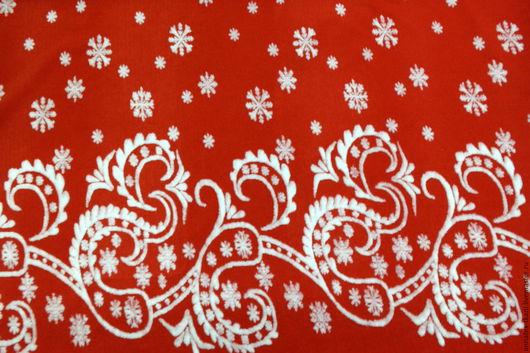 Мех искусственный с рисунком для костюма Деда Мороза.