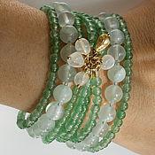 Украшения handmade. Livemaster - original item Bracelet Natural stones Mint. Handmade.