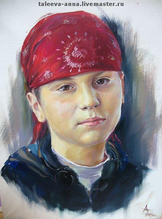 Люди, ручной работы. Ярмарка Мастеров - ручная работа. Купить Портрет сына.. Handmade. Детский портрет, портрет по фото, масло