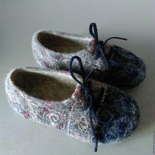 """Обувь ручной работы. Ярмарка Мастеров - ручная работа. Купить Тапочки валяные детские """"Для Влада"""". Handmade. Комбинированный"""