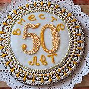 Сувениры и подарки ручной работы. Ярмарка Мастеров - ручная работа Пряник с начинкой на годовщину свадьбы. Handmade.
