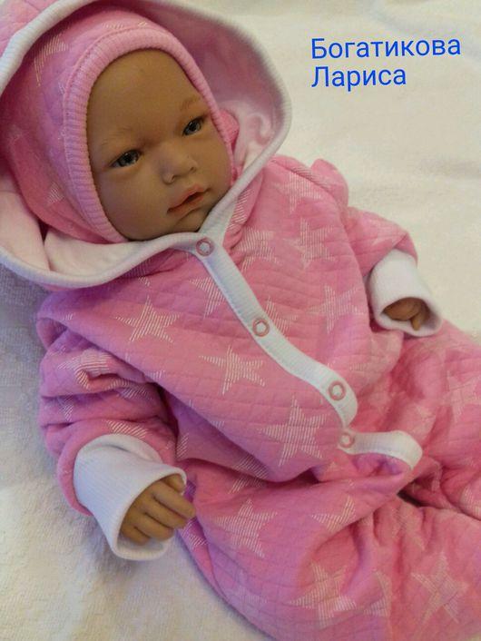 """Для новорожденных, ручной работы. Ярмарка Мастеров - ручная работа. Купить Летний комплект на выписку """" маленькая звёздочка """". Handmade."""