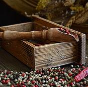 """Для дома и интерьера ручной работы. Ярмарка Мастеров - ручная работа """"Peperoncino"""" Мини комод для перца. Handmade."""