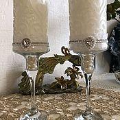 Свадебные свечи ручной работы. Ярмарка Мастеров - ручная работа Свадебные свечи. Handmade.