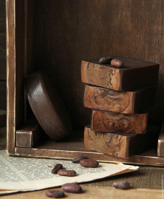 """Мыло ручной работы. Ярмарка Мастеров - ручная работа. Купить Мыло с нуля """"Шоколад"""" натуральное. Handmade. Коричневый, десерт, полезное"""