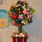 Цветы и флористика ручной работы. Ярмарка Мастеров - ручная работа Топиарий  Красная шапочка 2. Handmade.
