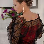 """Одежда ручной работы. Ярмарка Мастеров - ручная работа Пеньюар и сорочка """"Искушение"""" - сексуальный черно-красный комплект. Handmade."""
