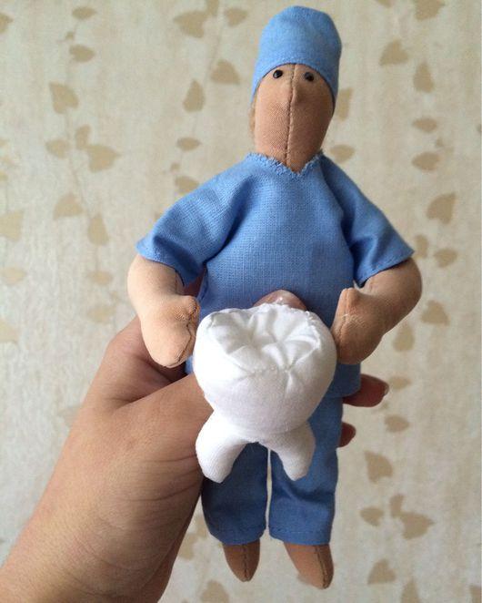 Куклы Тильды ручной работы. Ярмарка Мастеров - ручная работа. Купить Зубной техник. Handmade. Зубно, голубой цвет, зуб