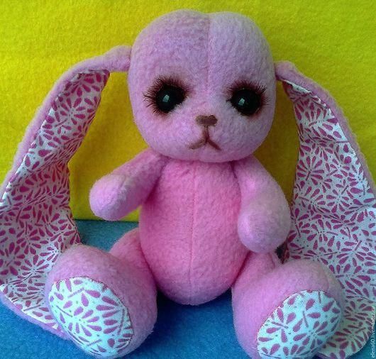 Мишки Тедди ручной работы. Ярмарка Мастеров - ручная работа. Купить Розовая Зая. Handmade. Розовый, Заяц в подарок, синтепон