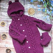 Работы для детей, handmade. Livemaster - original item Knitted Romper for baby hooded. Handmade.
