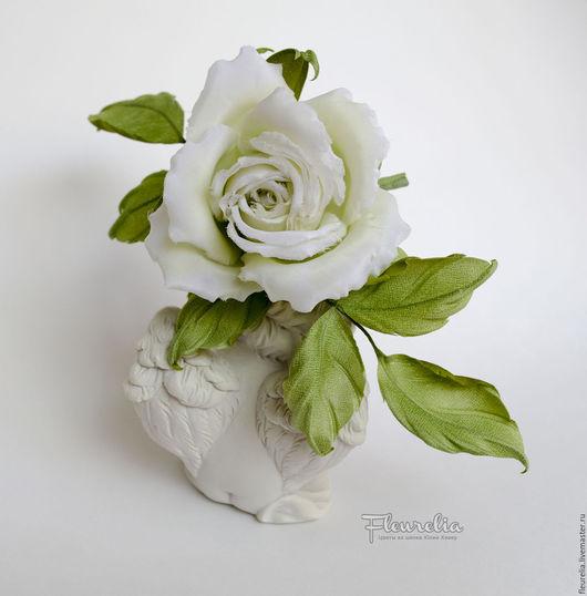 """Броши ручной работы. Ярмарка Мастеров - ручная работа. Купить Шелковая роза """"Гвендолин"""". Цветы из шелка. Цветы из ткани. Handmade."""