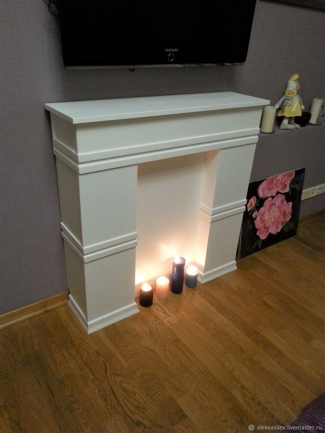 False fireplace white 'Bjorn', Fireplaces, Moscow,  Фото №1