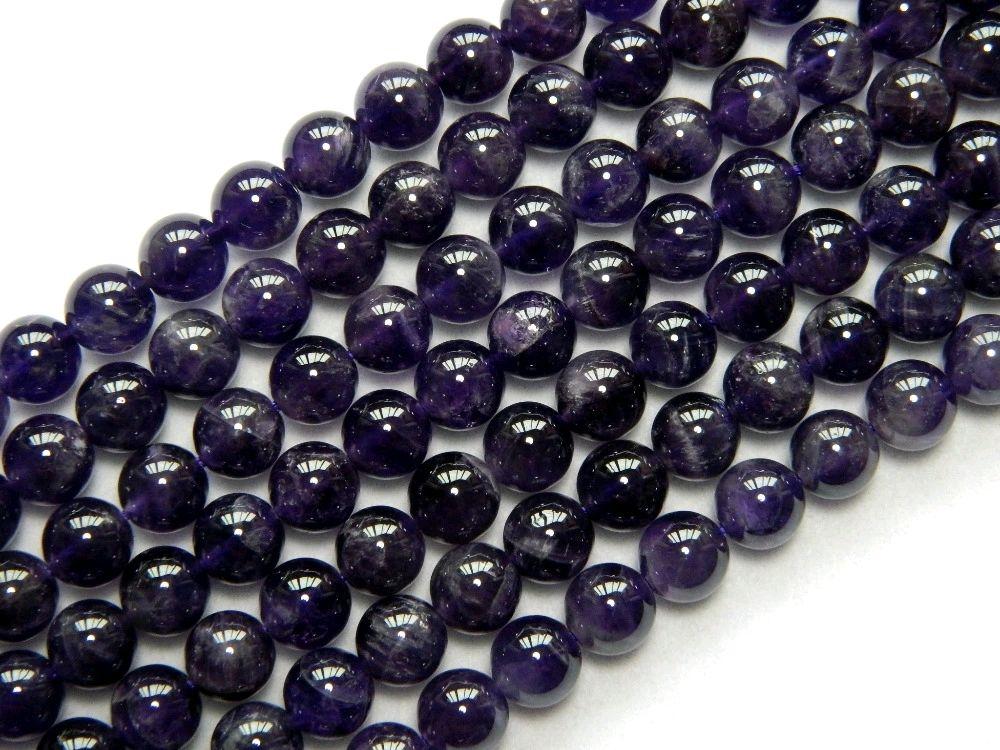 Аметист 8 мм, фиолетовые бусины из натурального камня, Бусины, Екатеринбург,  Фото №1