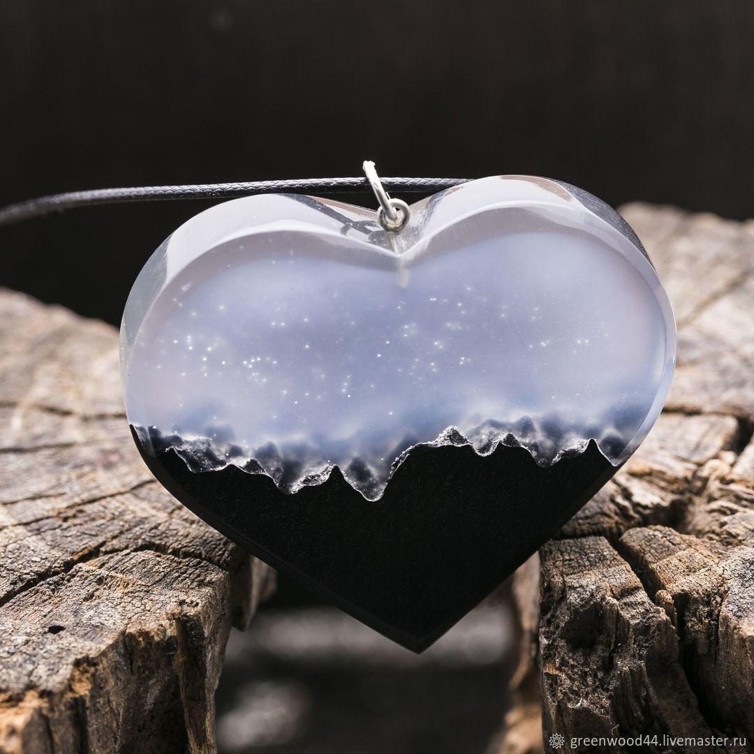 Mysterious Heart Wooden Pendant, Pendants, Kostroma,  Фото №1