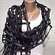 шарф сетка, модный аксессуар