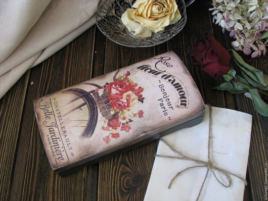 """Шкатулки ручной работы. Ярмарка Мастеров - ручная работа. Купить Купюрница """" Fleur d""""amoure"""". Handmade. Разноцветный, подарок девушке"""