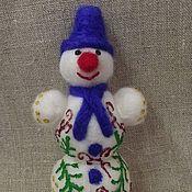Подарки к праздникам ручной работы. Ярмарка Мастеров - ручная работа снеговичок. Handmade.